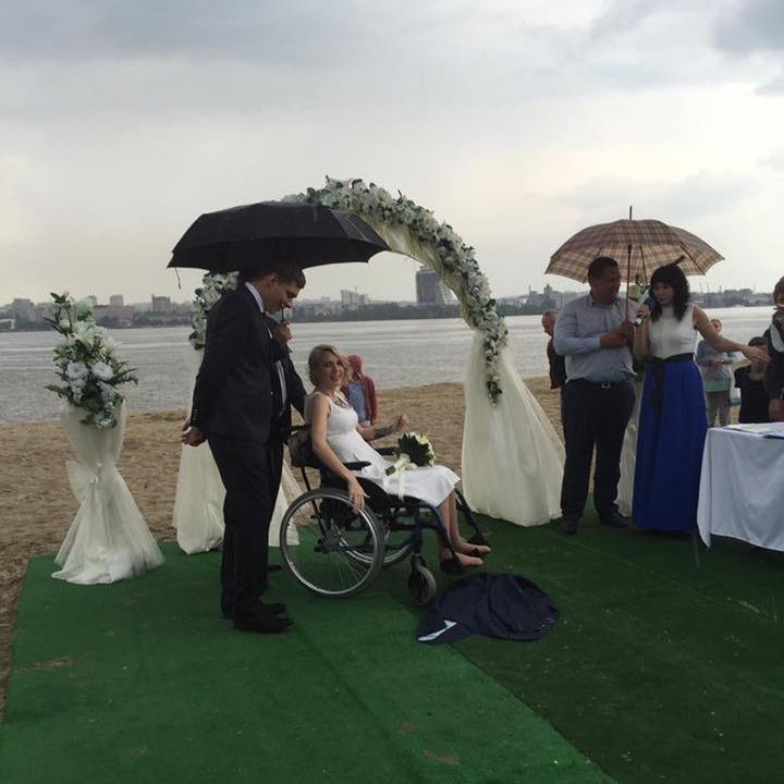 Яна Зінкевич вийшла заміж під дощем
