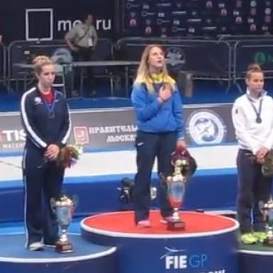 Завдяки спортсменам сталося неможливе: гімн України залунав у Москві (ВІДЕО)