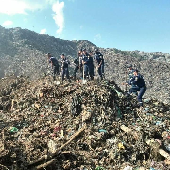 Зсув на сміттєзвалищі під Львовом: оприлюднено фото та відео пошукових робіт