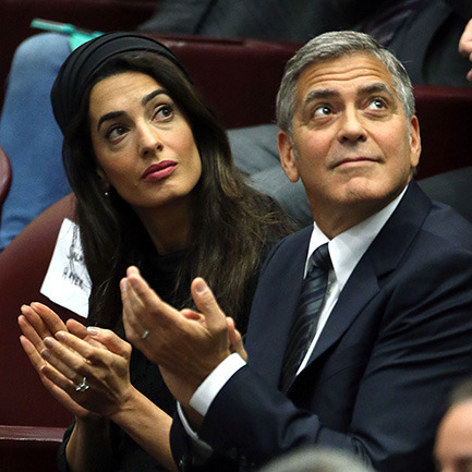 Джордж Клуні зустрівся з Папою Римським