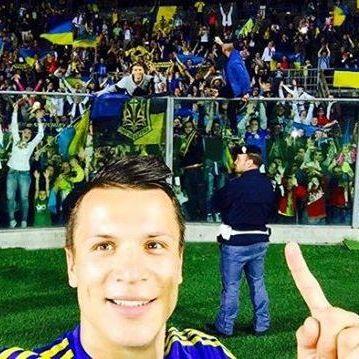 Коноплянка зробив селфі з українськими вболівальниками (фото)