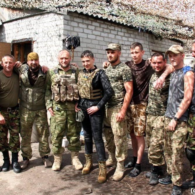 Савченко з Ярошем побували на передовій в Авдіївці (ФОТО)