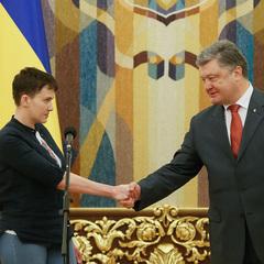 Савченко пояснила Порошенку свої слова про Захарченка і Плотницького