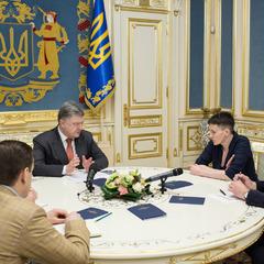 Порошенко підтримав ініціативу Савченко щодо прямих переговорів із бойовиками