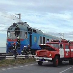 Під Черкасами загорівсяч потяг із сотнею пасажирів (ВІДЕО)