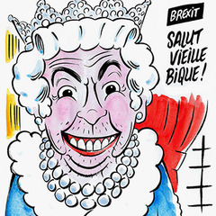 Charlie Hebdo зобразили британську королеву без штанів (фото)