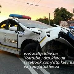 У Києві сталася ДТП за участю поліції (відео)