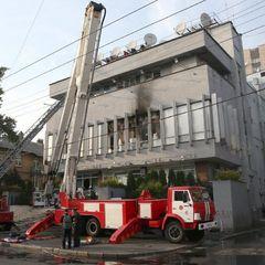 Підпал «Інтера»: з'явилося відео наслідків пожежі (відео)