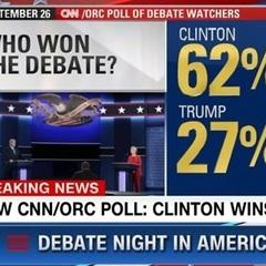 Клінтон&Трамп: глядачі визначились з переможцем теледебатів