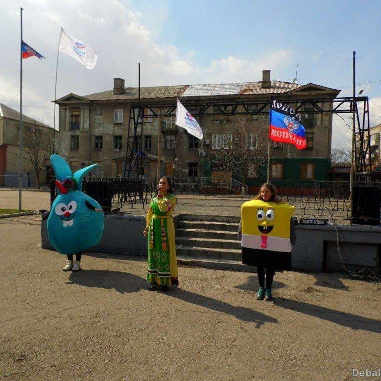 Інтернет розважило фото зі свята сепаратистів в Дебальцеве