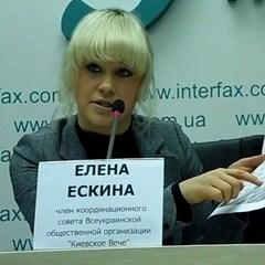 Українській активістці Олені Єськіній розбили автомобіль (фото)
