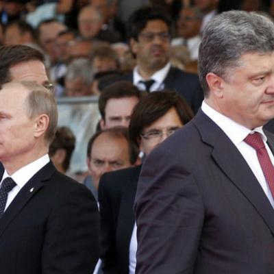 Перед нормандськими перемовинами Порошенко та Путін не потисли руки
