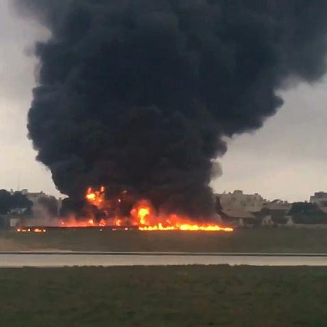 З'явилося відео авіакатастрофи на Мальті