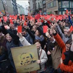 В Празі пройшов багатотисячний протест, на якому підтримали цілісність України