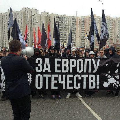 В Любліно пройшов марш російських націоналістів проти політики Кремля (відео)