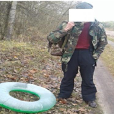 Нелегал приплив із Польщі в Україну на надувному колі