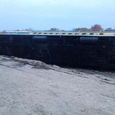 П'яний машиніст перекинув вантажний поїзд у Хмельницькій області