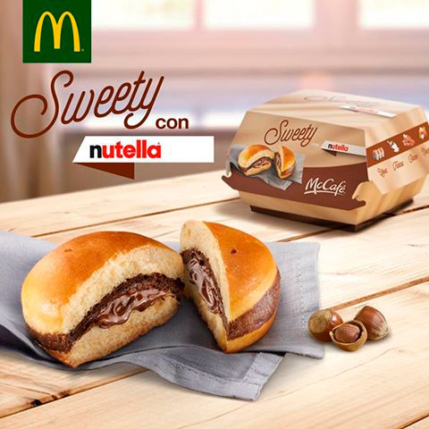 McDonald's анонсував новий бургер з «Нутеллою»