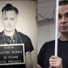Зірка Голлівуду Джонні Депп виступив на підтримку Олега Сенцова