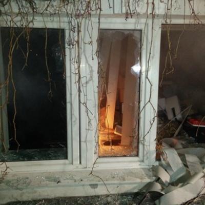Активісти розбили вікна в офісі Медведчука і російського банку