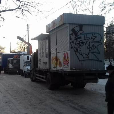Атака на кіоски, що відбувалося сьогодні на вулиці Янтарній (фото)