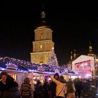Свято наближається: мережу закохав новорічний Київ з висоти пташиного польоту