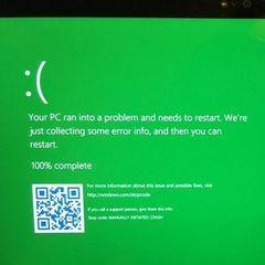 Екран смерті в Windows 10 став зеленим