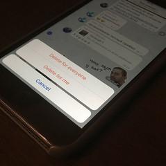 «П'ятничні» меседжи тепер можна видалити з чужого телефону