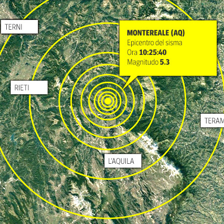 У центральній Італії стався потужний землетрус