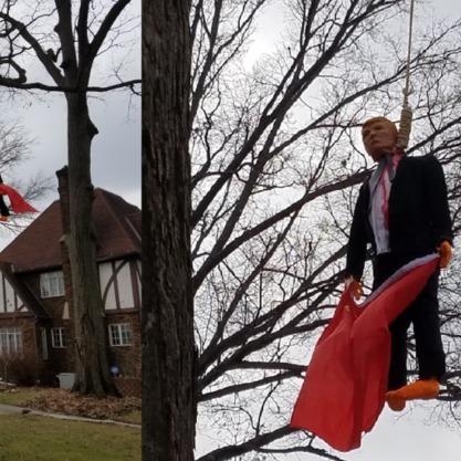 Лялька Трампа із прапором СРСР висить в американському штаті Індіана (фото)