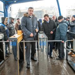 Віталій Кличко: «До кінця року ми плануємо повністю оновити рухомий склад на Борщагівській лінії швидкісного трамваю»