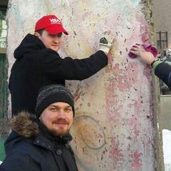 Активісти відмили фрагмент Берлінської стіни, який розмалював Гончаренко (фото)
