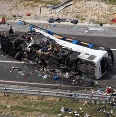 Лобове зіткнення двох автобусів в Аргентині: від 10-ти загиблих