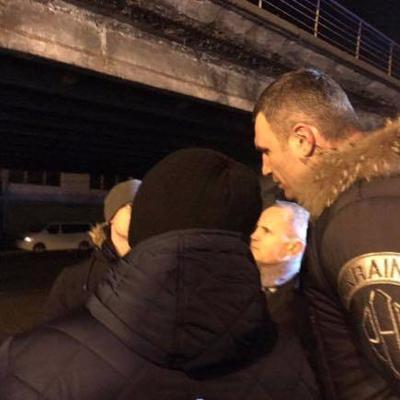 Кличко доповів про ситуацію з мостом на Шулявці який обвалився (фото)