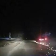 «Іскри з-під коліс» - у Тернополі п'яний водій тікав від поліції на пробитих колесах  (відео)