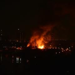 Масштабна пожежа в оздоровчому комплексі Києва (фото)