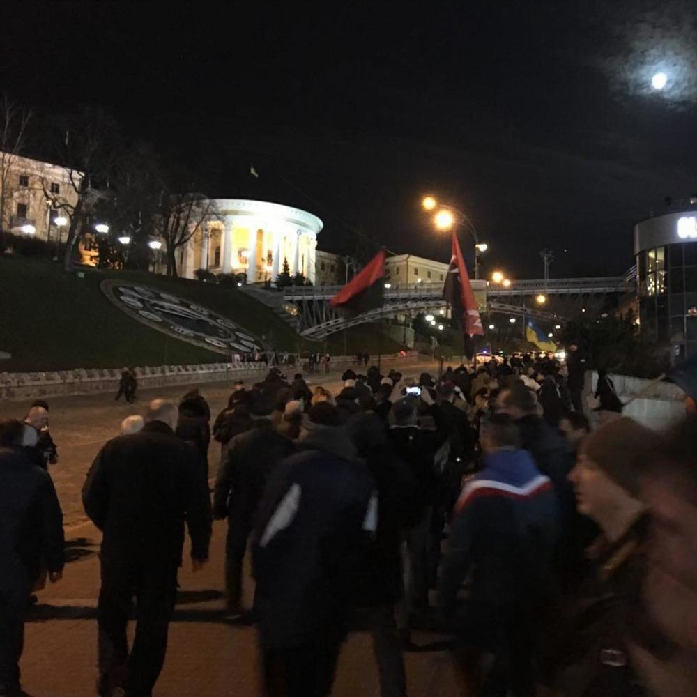 Прихильники блокади провели на майдані мітинг (фото)
