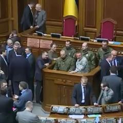 До зали парламенту зайшли військові. Засідання закрито