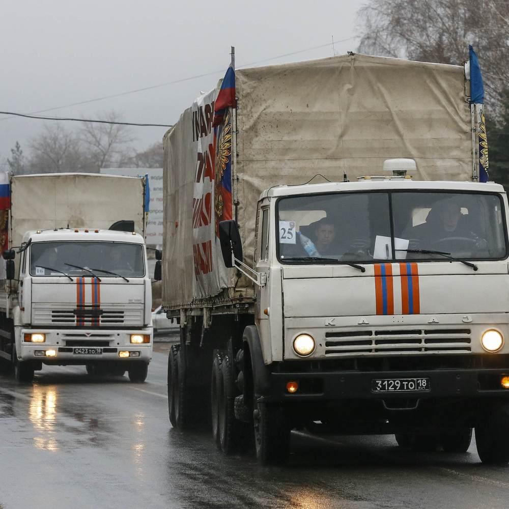 Росіяни знову відправили на територію України гумконвой