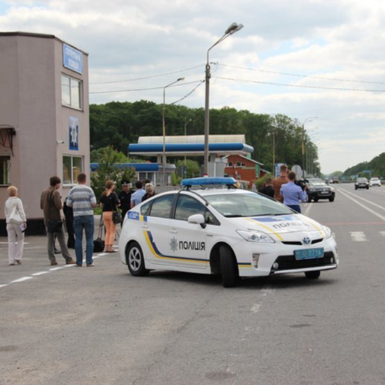 Бурштинові магнати перекрили трасу на Житомирщині