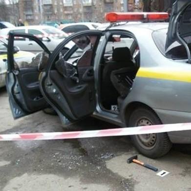 В Києві «обчистили» інкасаторську машину (фото)