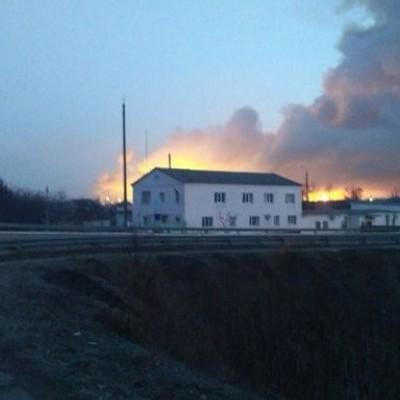У Харківській області у радіусі 40 км від складів, що горять, заборонили польоти