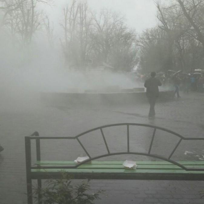 Димові шашки застосувала поліція для розгону антикорупційного мітингу в Краснодарі