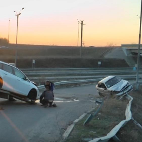 Поблизу Умані п'яний водій збив патрульного (відео)