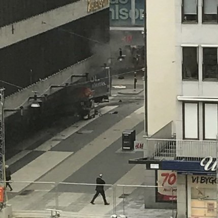 Теракт у Стокгольмі: опубліковано відео із камери спостереження