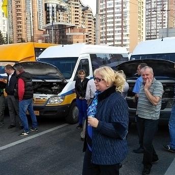 У Києві протестувальниками перекрито бульвар Лесі Українки (фото)