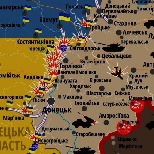 Як змінювалася лінія фронту на Донбасі за останні три роки: 2 - хвилинне відео