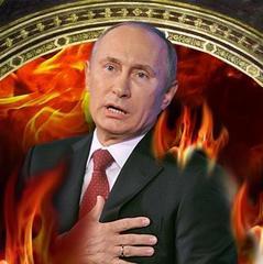 У Львівській області у церкві намалювали Путіна, який горить у пеклі (фото)