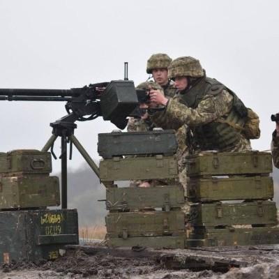 ЗСУ провели навчання з бойовою стрільбою із зеніток на сході країни (фото)