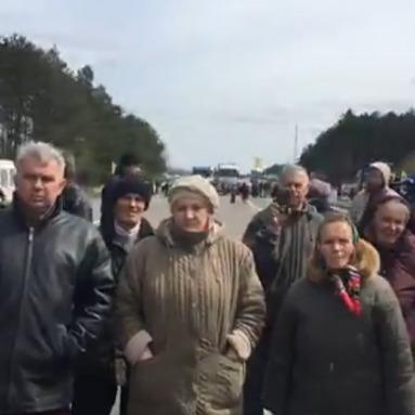 Волиняни перекрили трасу Київ-Варшава через загрозу екологічної катастрофи (відео)